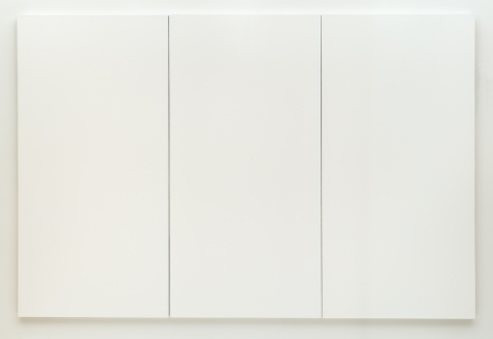 Robert Rauschenberg. White Painting [three panel]. 1951. Oil on canvas. SFMOMA.